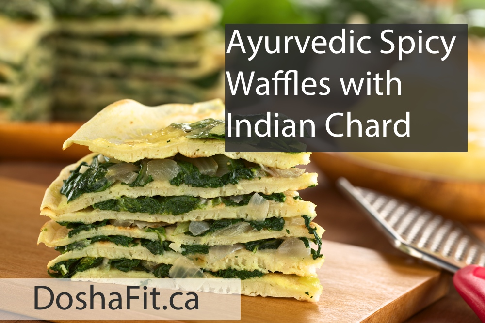 Spicy Waffles with Indian Chard Recipe | DoshaFit®